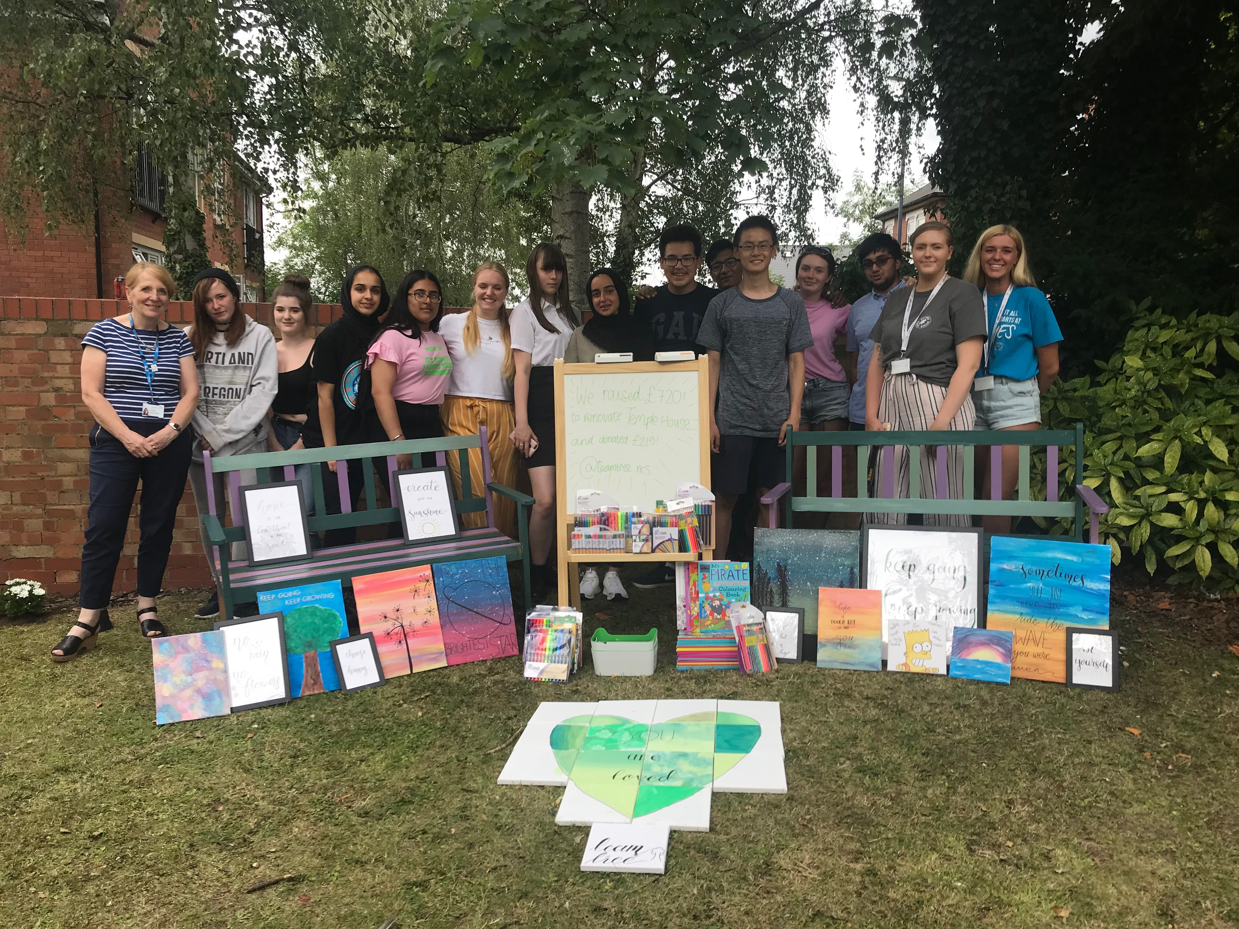 Teen volunteers from NCS make a difference at Temple House