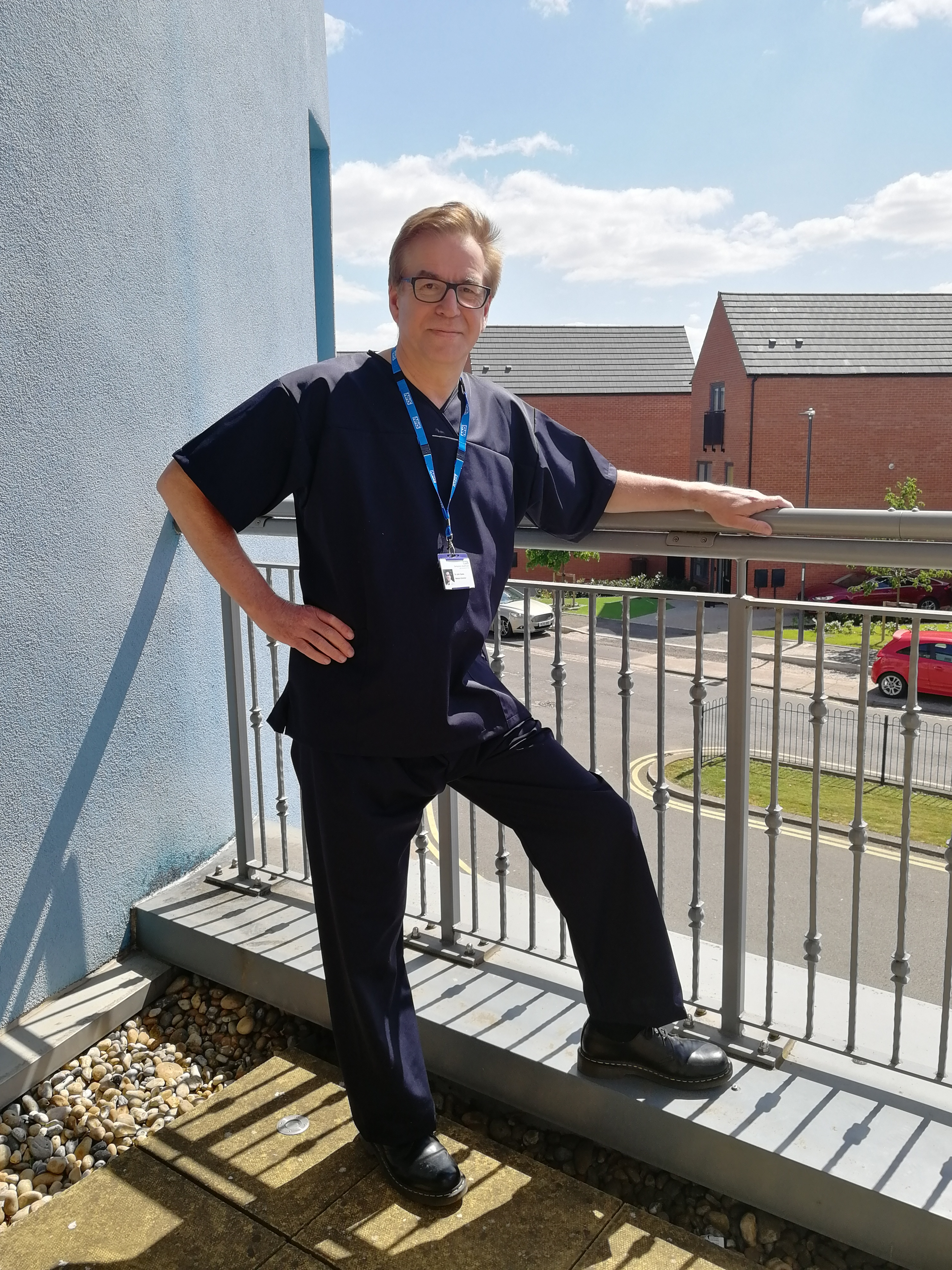Derbyshire healthcare staff sport stylish new scrubs thanks to Derbyshire manufacturer